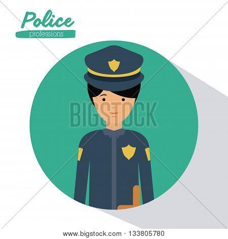officer profession design, vector illustration eps10 graphic