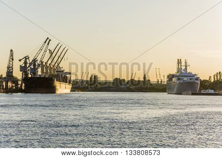 Ships In The Harbor.