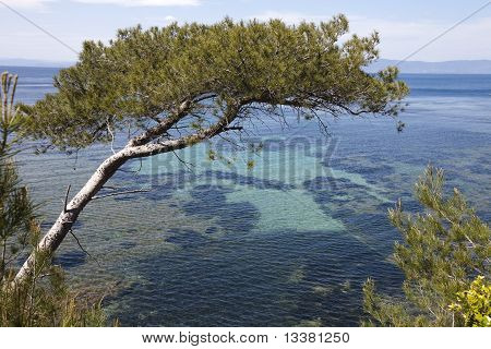 Panoramic View Of Mediterranean Sea In South Of France