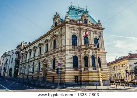 Belgrade Serbia - August 29 2015. Building of Austrian Embassy on Pariska Street