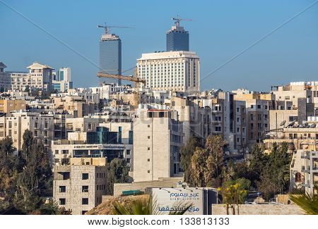 Amman Jordan - December 23 2015. Houses in capital of Jordan