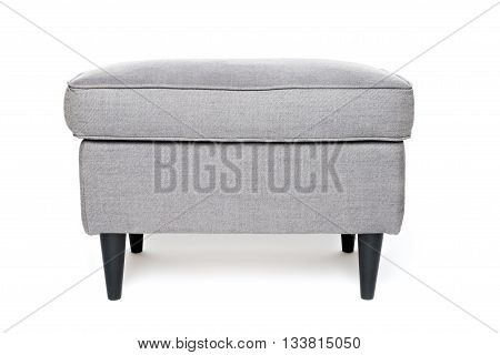 single grey footrest isolated on white background