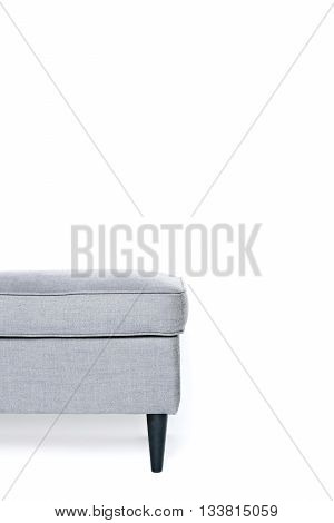 grey footrest isolated on white background copy space