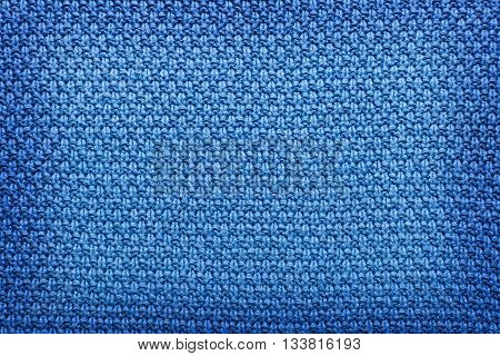 blue wool knitted texture full frame background