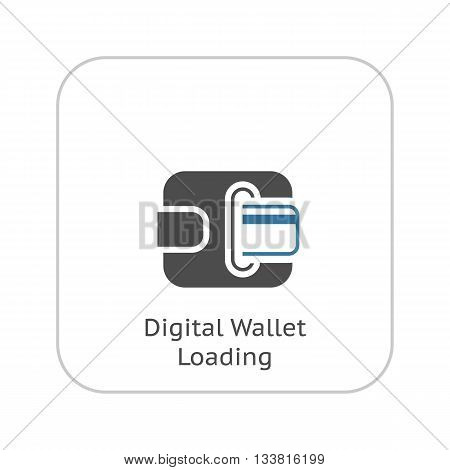 Modern Flat Digital Wallet concept Illustration. Mobile banking, online finance, e-commerce banner template. For mobile app, web, banner, blog post.