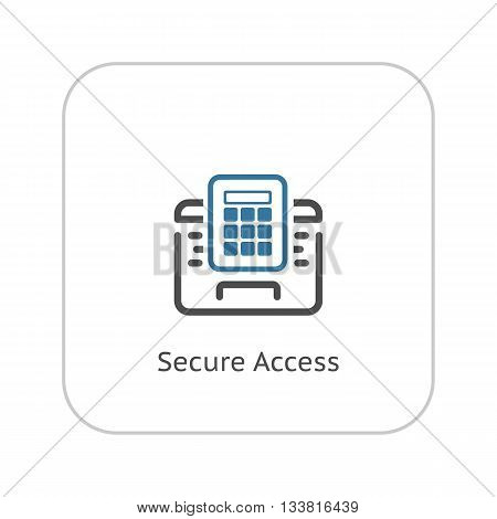 Secured Access Icon. Flat Design. Business Concept Isolated Illustration.