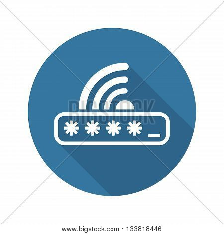 Limited Access Icon. Flat Design. Mobile Devices and Services Concept. Isolated Illustration.