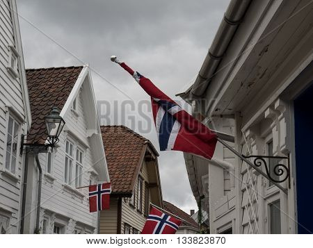 the old City of stavanger in norway