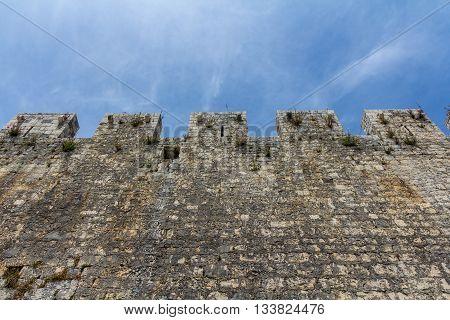 Trogir Croatia - May 10 2016: wall of Kamerlengo Castle