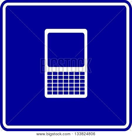 mobile device with keyboard sign