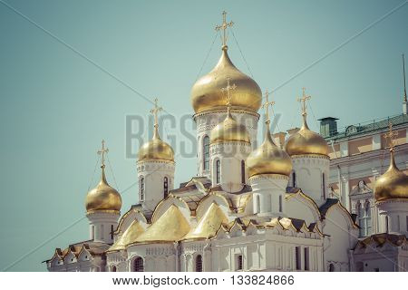 Close Up View Of Annunciation Cathedral Cupola