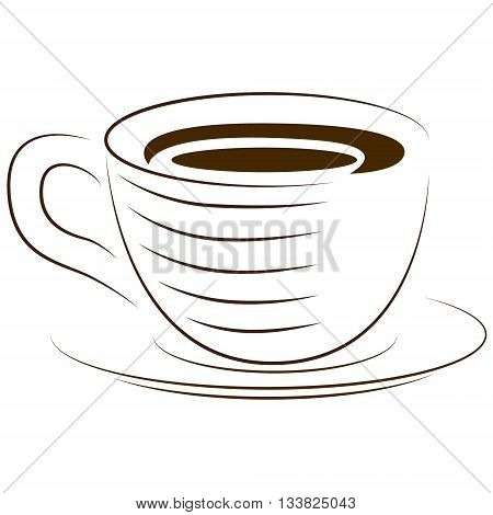 Icon cups. A cup of hot drink. Vector icon. Graphic vector image of a cup.