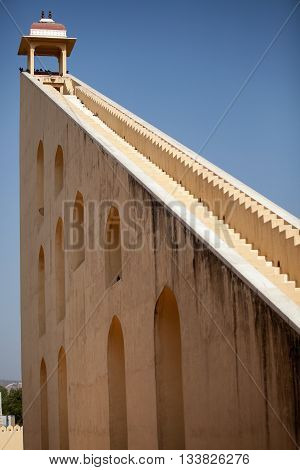 27 meter sundial in Jantar Mantar, Jaipur, India