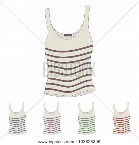 singlet vector/ female singlet/ sleeveless shirts set