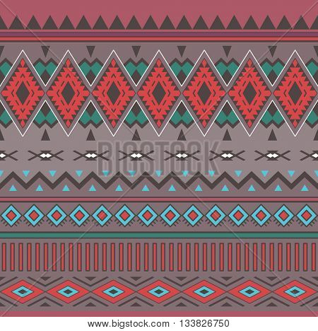 Tribal Boho Seamless Pattern. Ethnic geometric ornament. Vintage seamless background. Boho Vector Pattern. Texture for Fabric, Wallpaper and Wrapping.