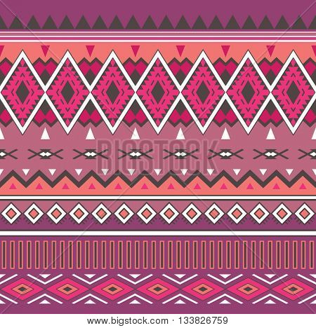 Tribal Boho Seamless Pattern. Ethnic Geometric Ornament. Aztec print. Boho Vector Pattern. Fabric, Wallpaper and Wrapping Texture.