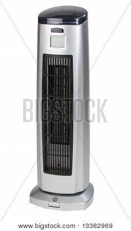 Electric Heater On White Background.