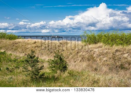The pier in Bansin on the island Usedom (Germany).