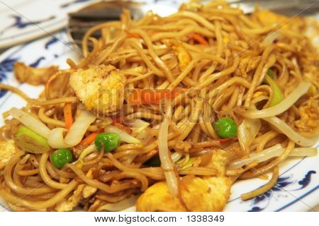 Plate Of Chicken Chow Mein