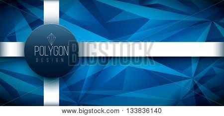 Vector polygon based design template. Elements are layered separately in vector file.