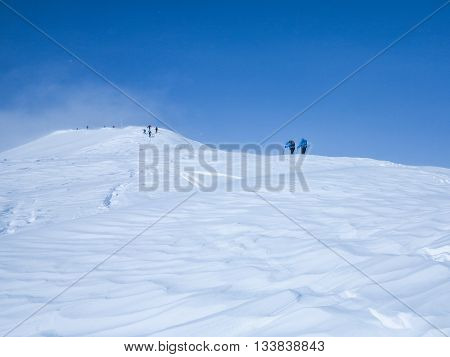 huge ski tour in the extreme height