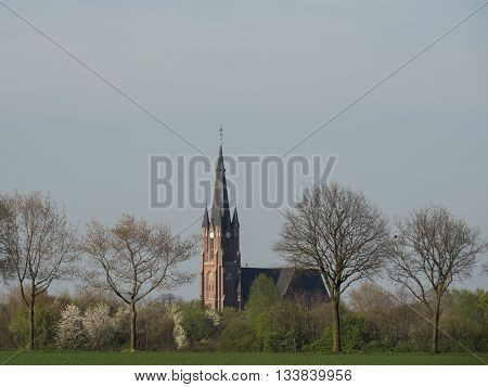 the german muensterland in the spring time