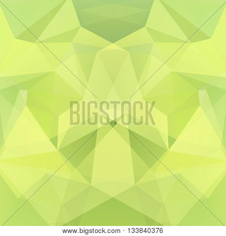 Background Made Of Triangles. Square Composition With Geometric Shapes. Eps 10 Yellow, Green Colors.