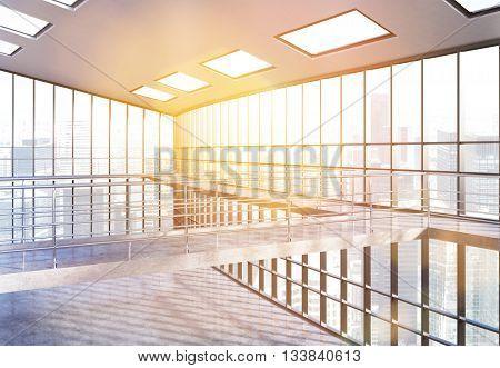 Empty Office Interior Toning