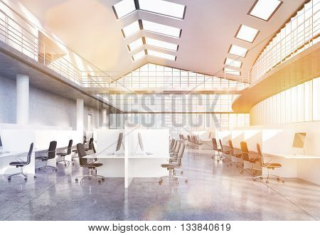 Large Concrete Office Toning