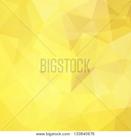 Abstract Polygonal Vector Background. Yellow Geometric Vector Illustration. Creative Design Template