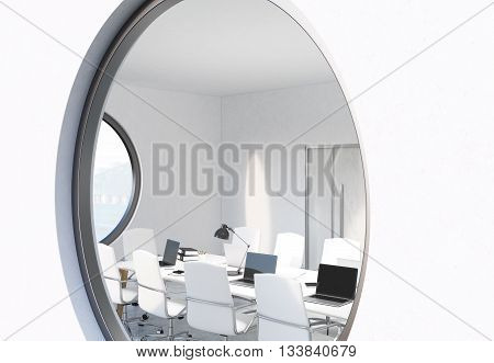 Window With Conference Room View