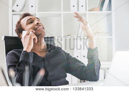 Relaxed Man On Phone
