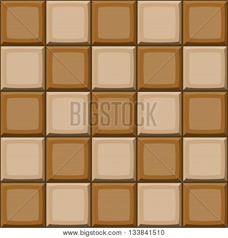 Cartoon Hand Drown Beige And Brown Seamless Tiles Texture