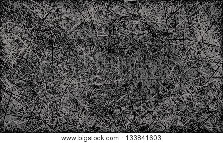 Black and white abstract scratched grunge background