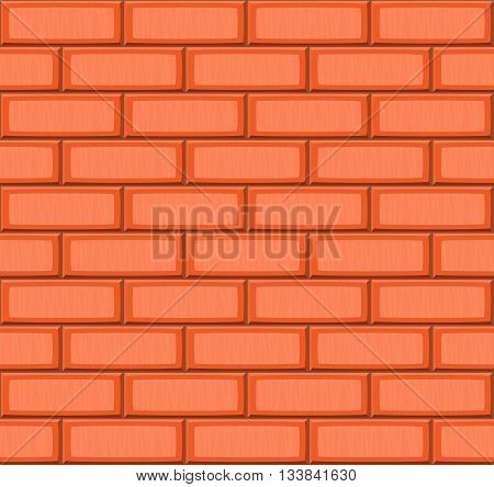 Cartoon Hand Drown Orange Realistic Seamless Brick Wall Texture