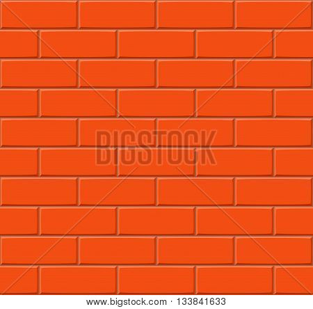 Cartoon Hand Drown Dark Orange Seamless Brick Wall Texture