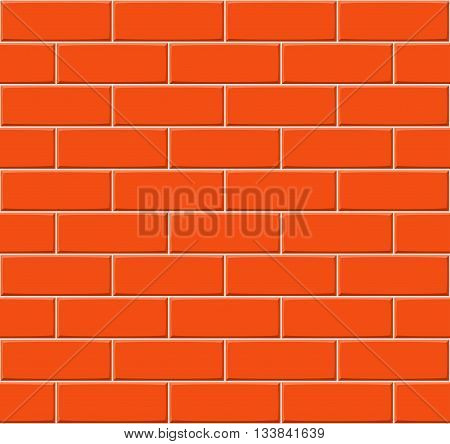 Cartoon Hand Drown Orange Seamless Brick Wall Texture