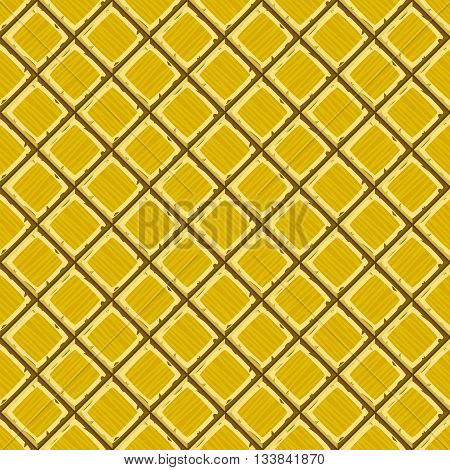 Cartoon Hand Drown Golden Old Diagonal Seamless Tiles Texture