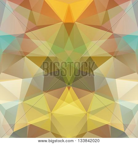 Background Made Of Triangles. Square Composition With Geometric Shapes. Eps 10 Yellow, Brown Colors.