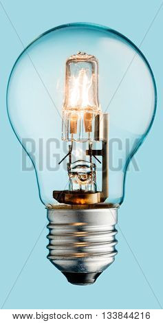 Glowing Halogen Light Bulb