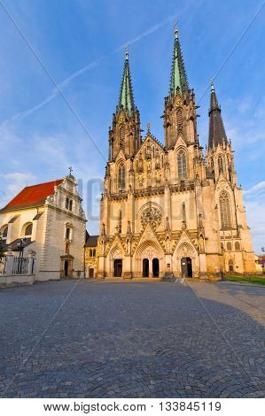 Cathedral in the Olomouc castle, Czech Republic.