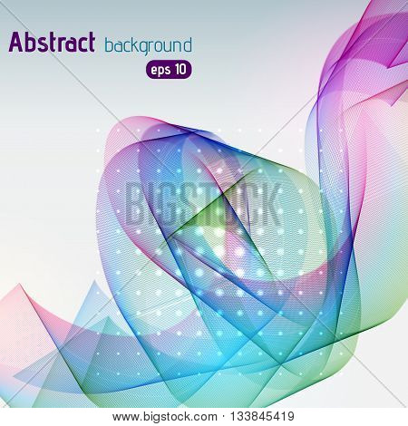 Abstract Technology Background Vector Wallpaper. Stock Vectors Illustration. Pink, Blue, Green Color