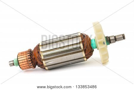 technology, Electric motor rotor isolated white background