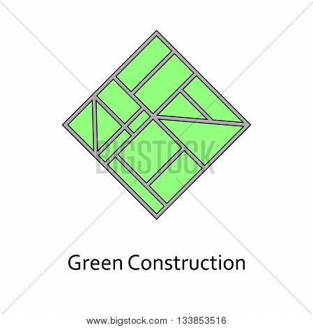 Green Landscaping vector construction logo . Construction company, engineering design.