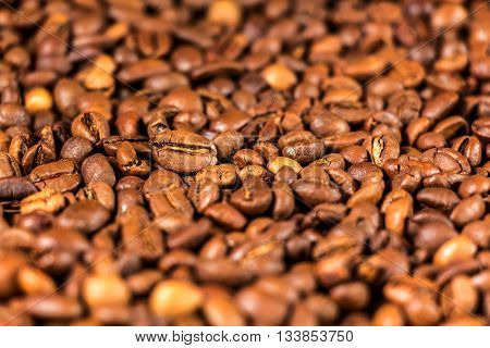 Background of a roasted coffee beans - stock photo.
