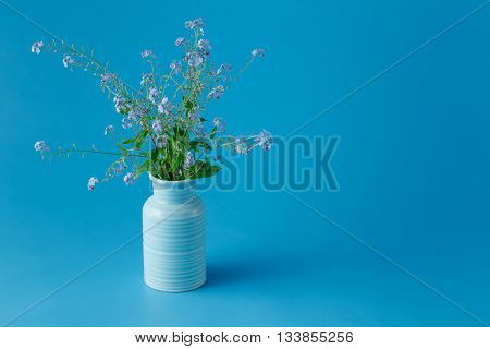Forget Me Not Flowers In A Vase