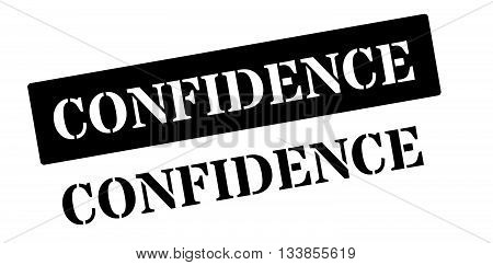 Confidence Black Rubber Stamp On White