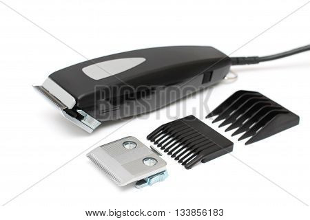 Hair clipper - barber machine isolated on white
