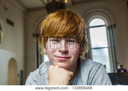 Cute Boy With Red Hair