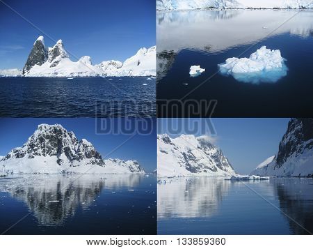 Breathtaking scenery of Antarctica as seen while cruising through the Lemaire Channel.
